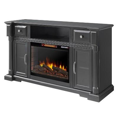 "60"" Vermont Media Electric Fireplace with Bluetooth Aged Black Finish - Muskoka"