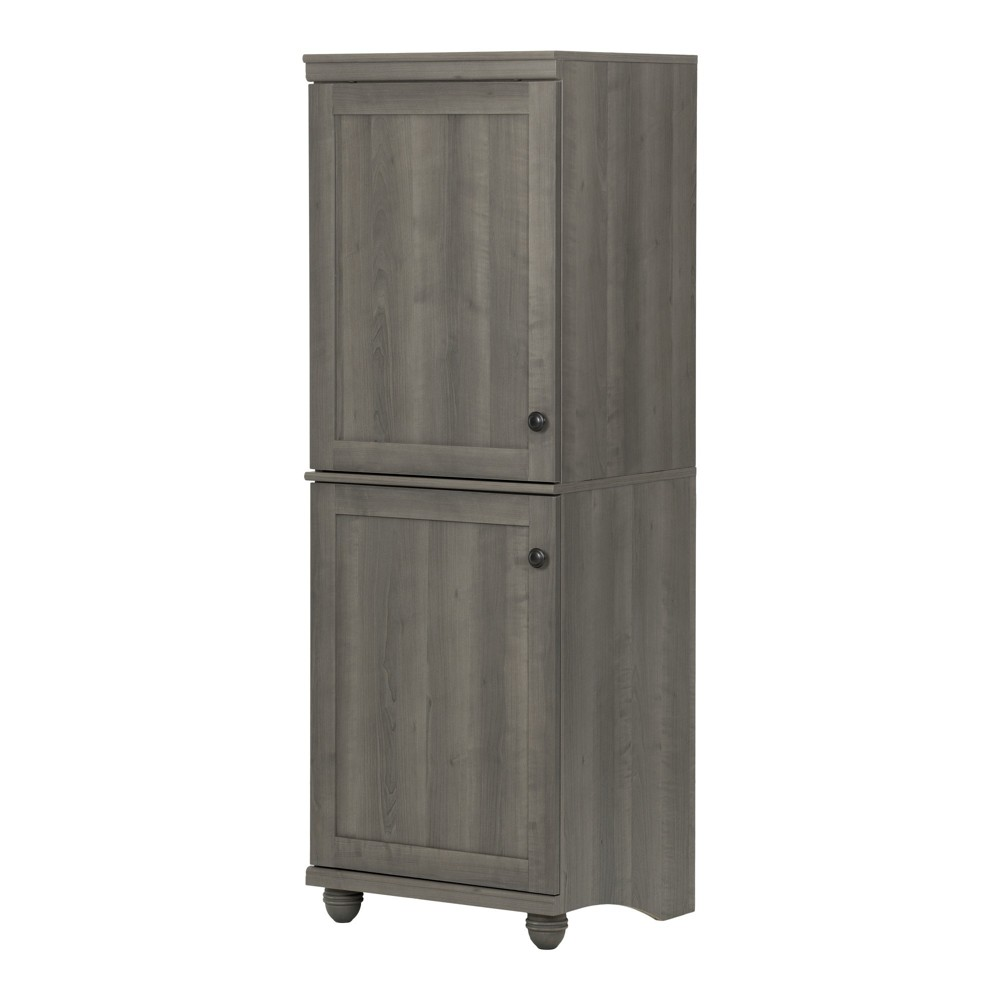 Hopedale 2 - Door Narrow Storage Cabinet - Gray Maple - South Shore, Grey