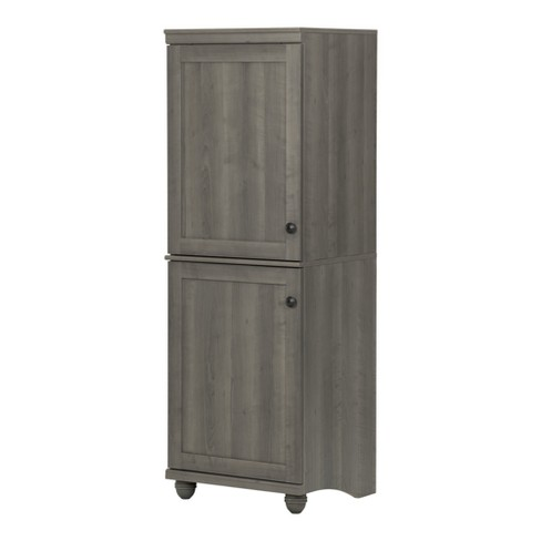 Hopedale 2 Door Narrow Storage Cabinet White Wash South Shore
