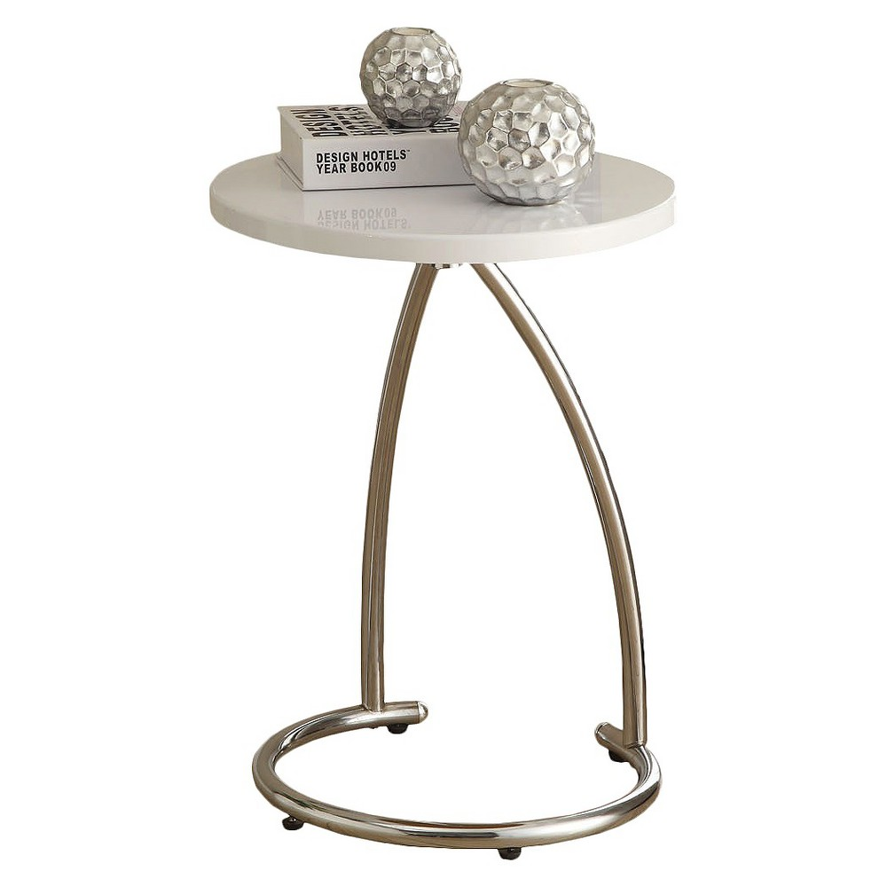 Metal Accent Table - White - EveryRoom