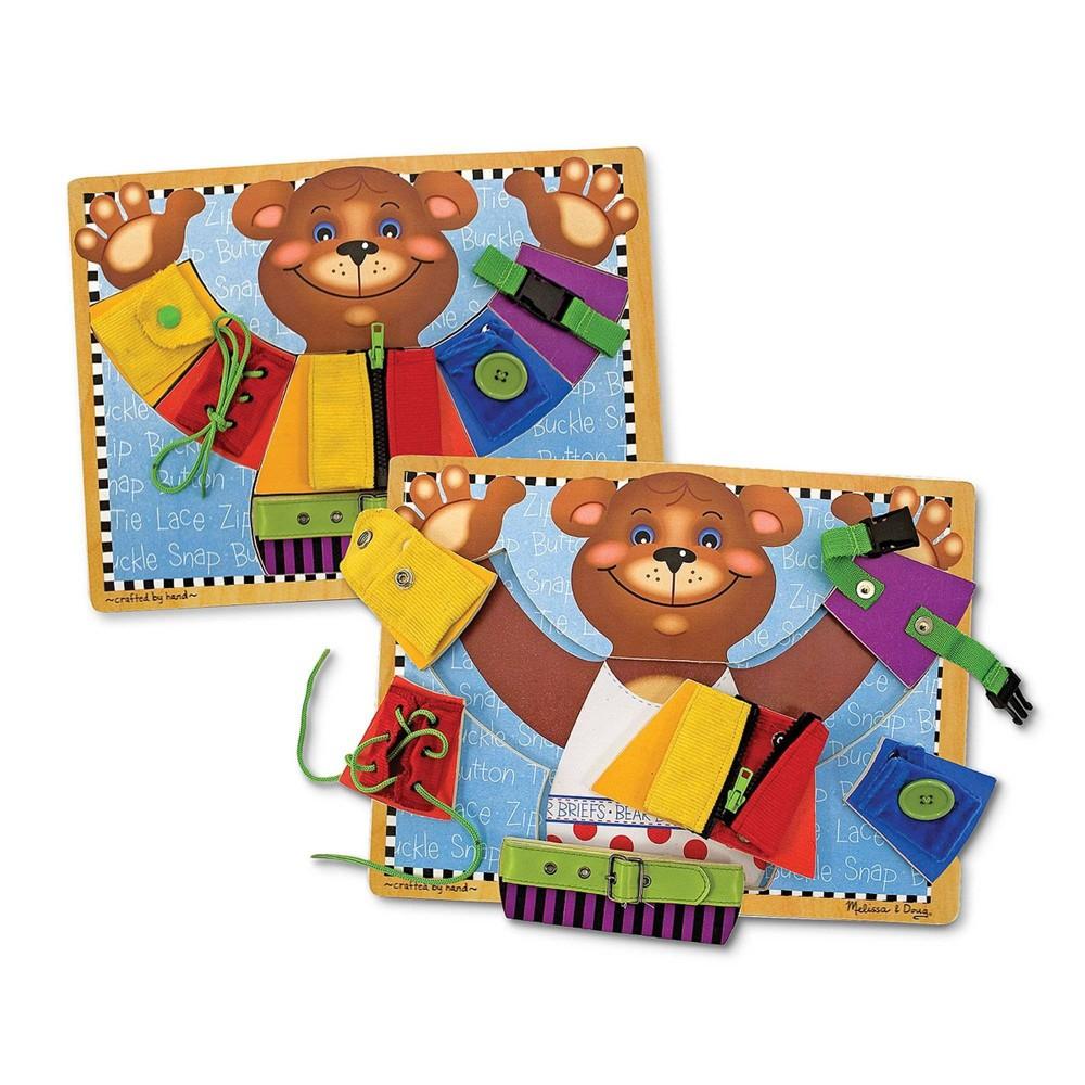 Melissa 38 Doug Basic Skills Board And Puzzle Wooden Educational Toy