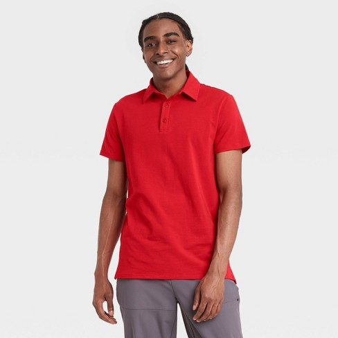 Men's Supima Cotton Polo Shirt - All in Motion™ - image 1 of 4