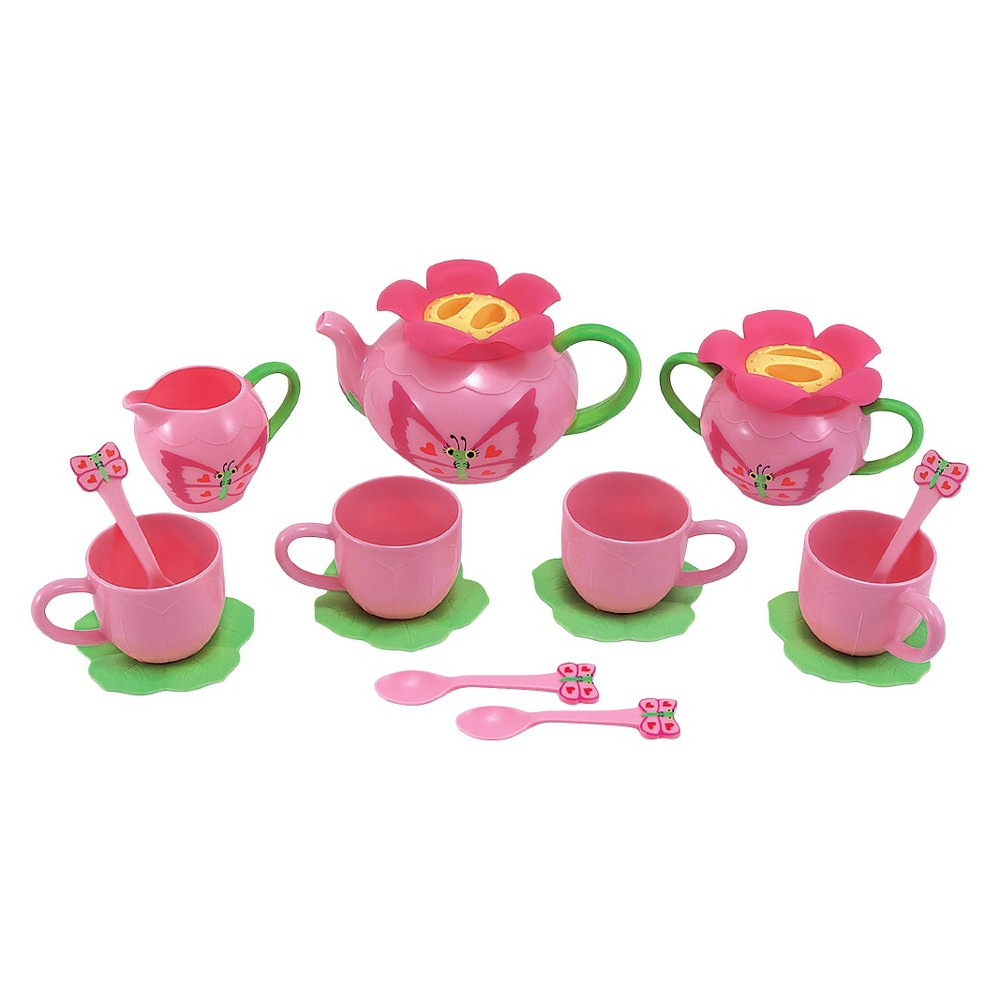 Melissa & Doug Sunny Patch Bella Butterfly Tea Set (17pc) - Play Food Accessories This Melissa and Doug Sunny Patch Bella Butterfly Tea Set makes tea time even more fun for your little one. Decorated with oh-so cute butterfly and flower details, the 17-piece toy tea set comes with everything your child needs to throw the perfect tea party, including cups, saucers, spoons, a teapot, a creamer cup and a sugar dish. Gender: Female.