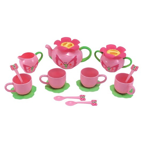 Melissa & Doug® Sunny Patch Bella Butterfly Tea Set (17pc) - Play Food Accessories - image 1 of 3
