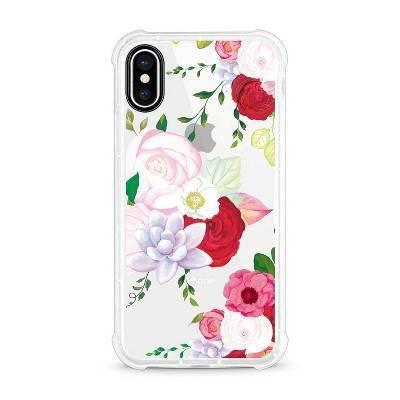 OTM Essentials Apple iPhone X/XS Rugged Edge Clear Floral Case