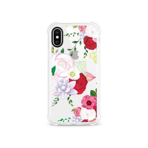 OTM Essentials Apple iPhone X/XS Rugged Edge Clear Floral Case - image 1 of 4
