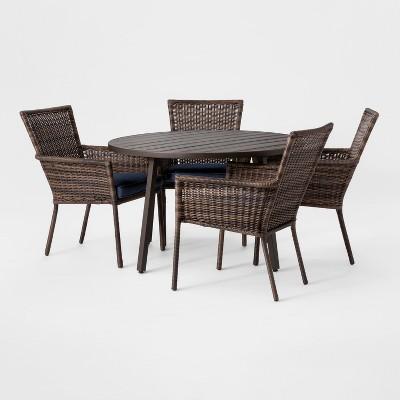 Monroe 5pc Patio Dining Set - Navy - Threshold™