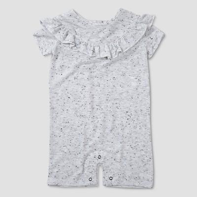 Baby Girls' Afton Street Short Sleeve Romper - Ivory 6-9M