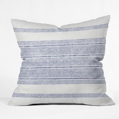 Holli Zollinger Capri Stripes Square Throw Pillow Blue - Deny Designs
