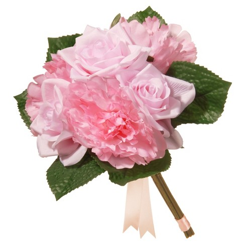 "Artificial Rose & Peony Bouquet Pink 12"" - National Tree Company® - image 1 of 1"