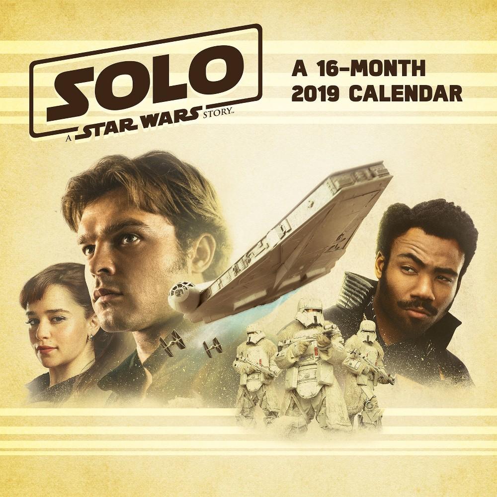 2019 Wall Calendar Star Wars Solo - Trends International, Multi-Colored