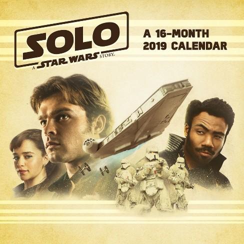 2019 solo a star wars story wall calendar