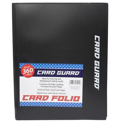 Acc Card Guard 9 Pocket Folio - Black