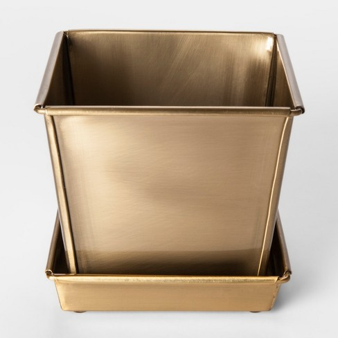 brass planter pot small smith hawken target. Black Bedroom Furniture Sets. Home Design Ideas