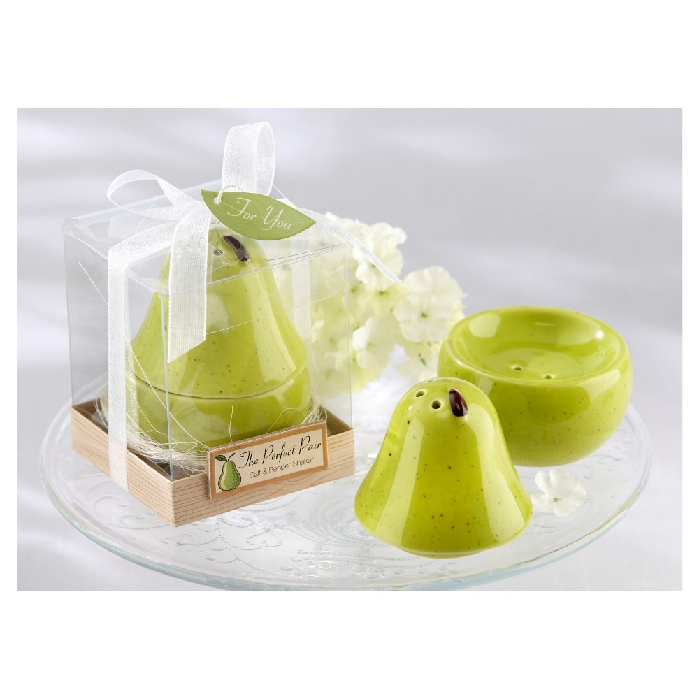 Image of 12ct The Perfect Pair Ceramic Salt & Pepper Shaker, Breezy Green