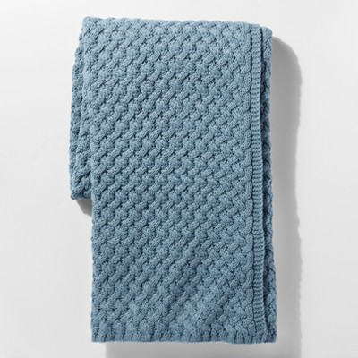 Blue Sweater Knit Throw Blanket - Threshold™