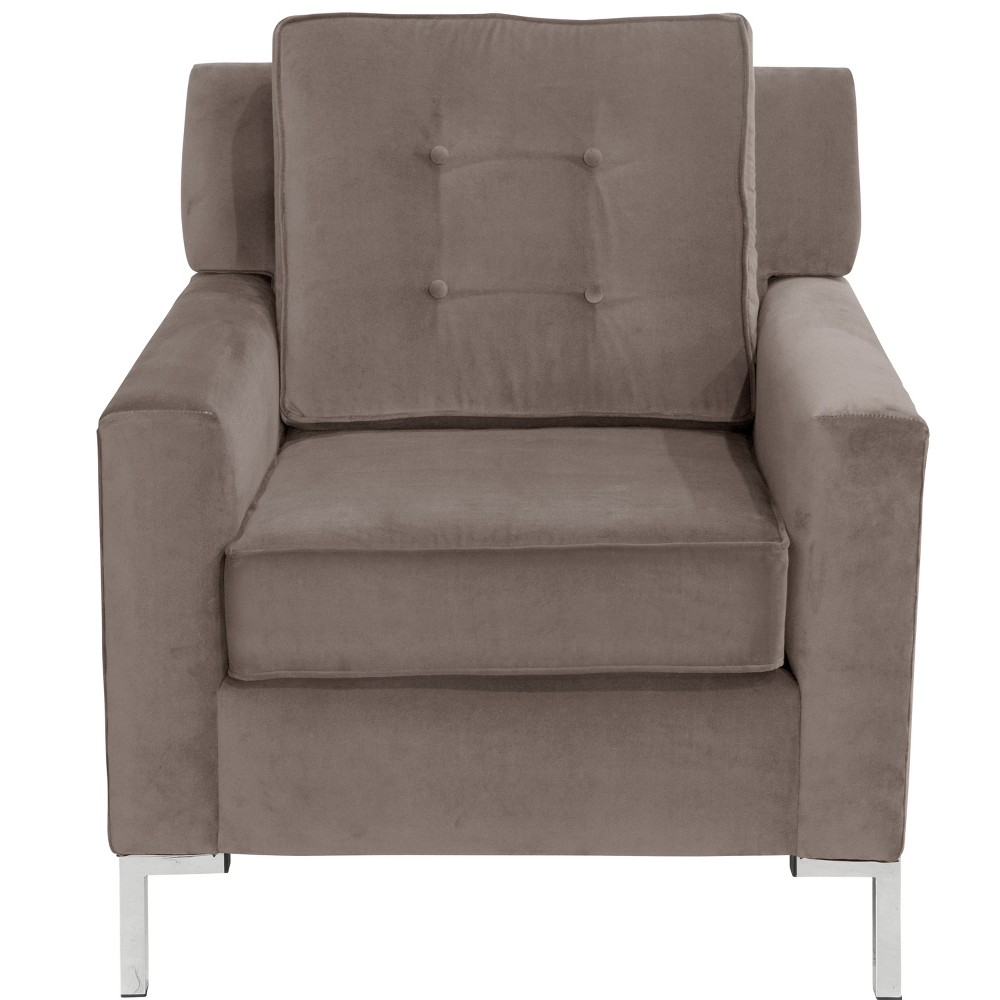 Parkview Chair with Y Metal Legs Regal Smoke - Skyline Furniture