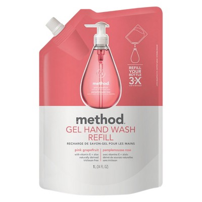 Method Gel Hand Soap Refill Pink Grapefruit - 34oz