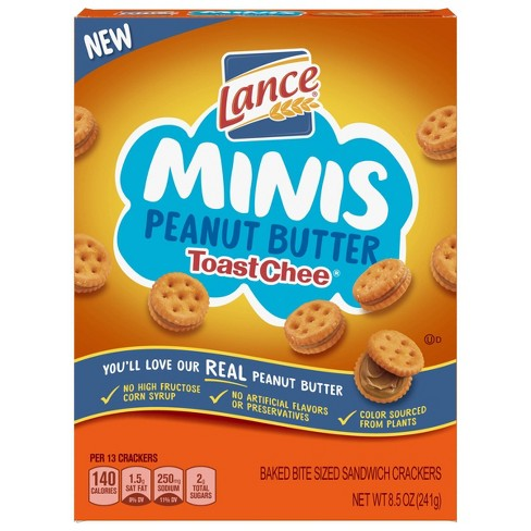 Lance Peanut Butter Toastchee Mini Sandwich Crackers - 8.5oz - image 1 of 4