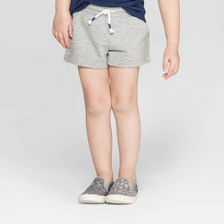 Toddler Girls' Straight Pull-On Shorts - Cat & Jack™ Heather Gray