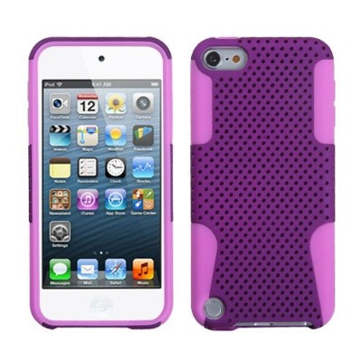 ASMYNA For Apple iPod Touch 5th Gen/6th Gen Purple Mesh Hard Hybrid Case Cover
