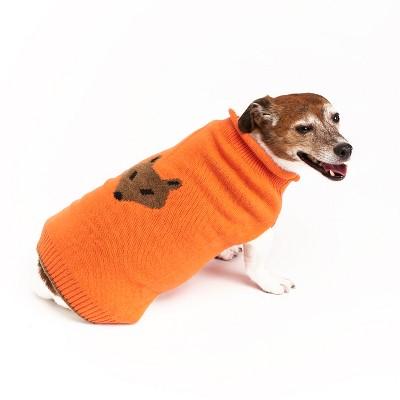 Royal Animals Dog and Cat Sweater - Orange - XS