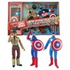 Diamond Select Marvel Captain America 8 Inch Retro Action Figure Set - image 3 of 3