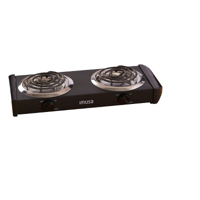 IMUSA Electric Double Burner- Black