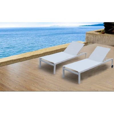"""2pk 75"""" Patio Chaise Lounges - White - Infinity"""