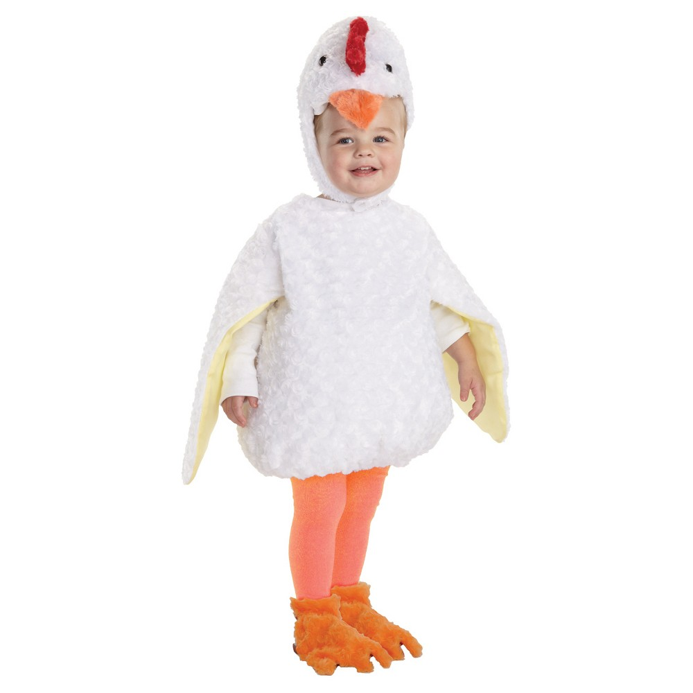 Image of Halloween Kids' Chicken Costume - 2T/4T, Adult Unisex, Size: 2T-4T, MultiColored