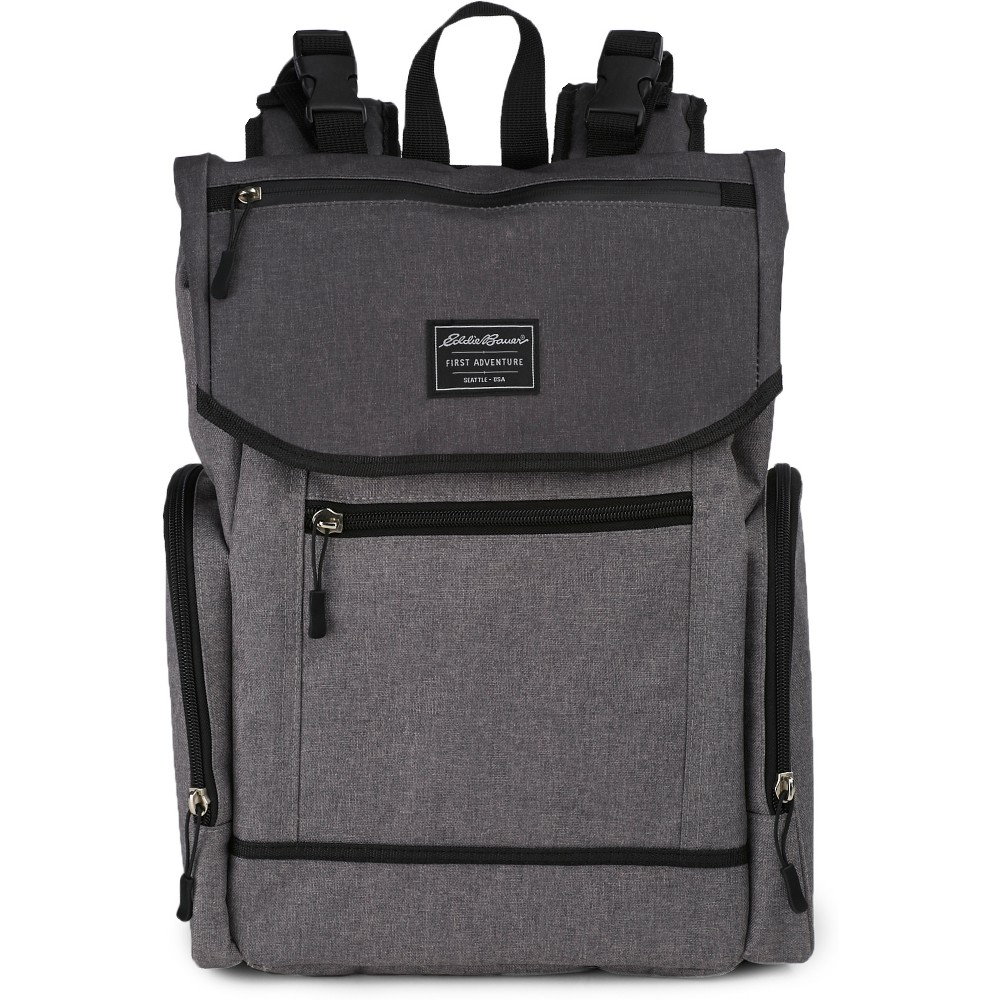 Image of Eddie Bauer Echo Places & Spaces Back Pack Diaper Bag - Grey, Gray