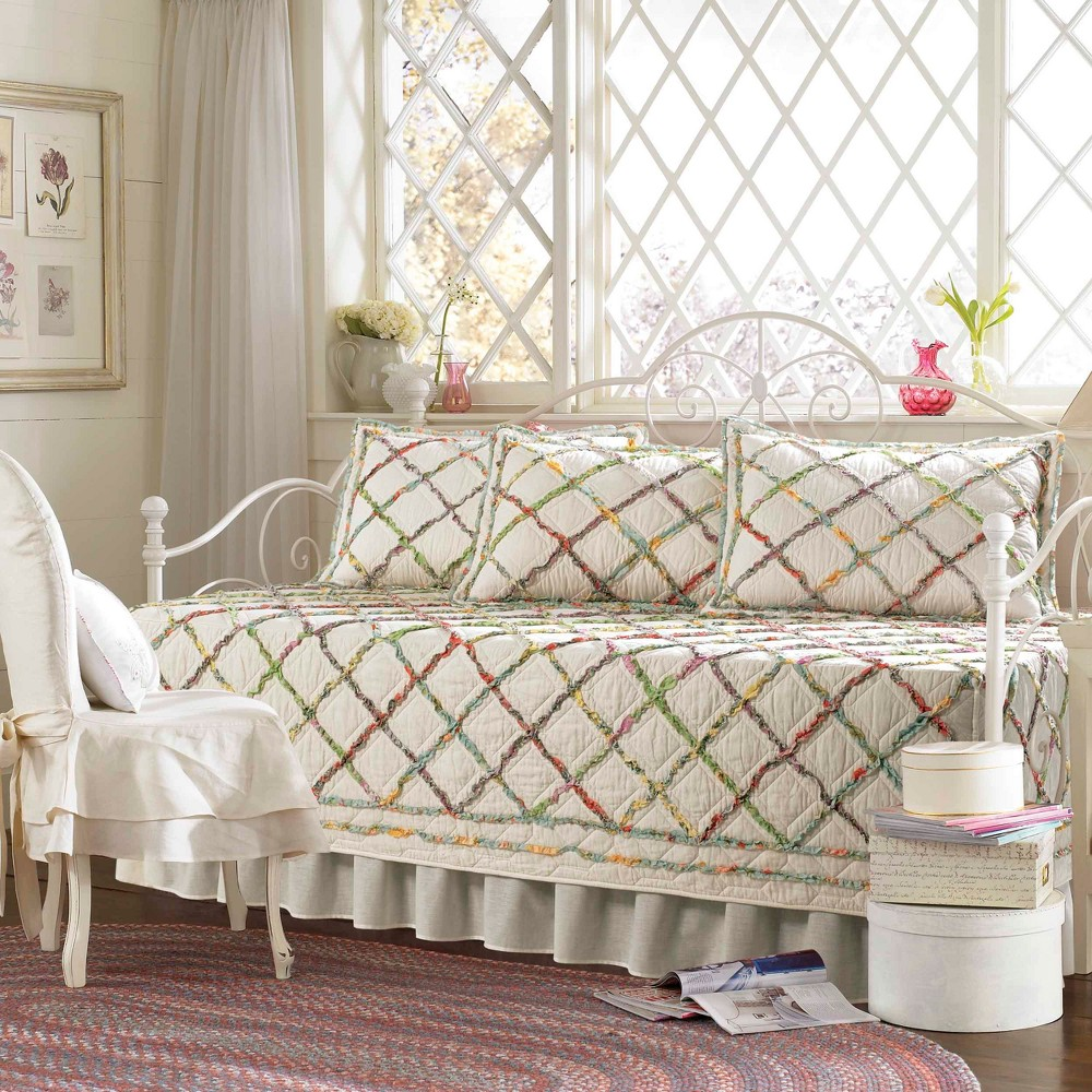 Image of Cream Ruffle Garden Daybed Set - Laura Ashley, Beige