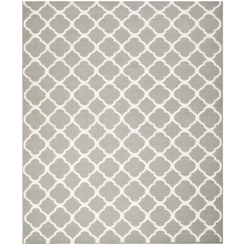 Woven Quatrefoil Design Area Rug Gray