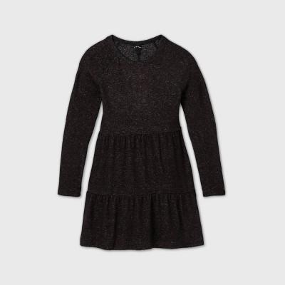 Girls' Tiered Long Sleeve Dress - art class™