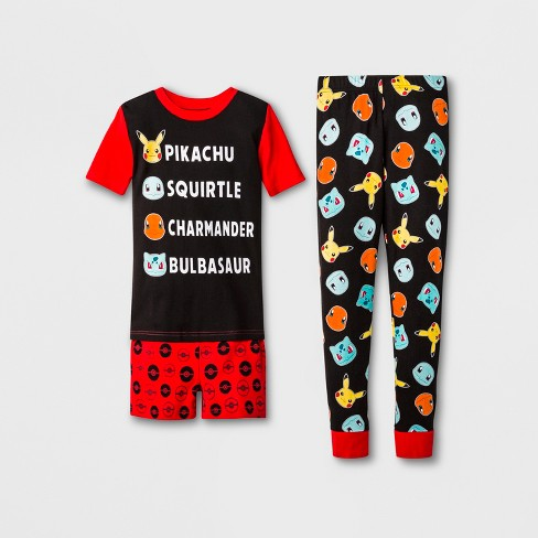 Boys' Pokemon 3pc Pajama Set - Red/Black - image 1 of 1