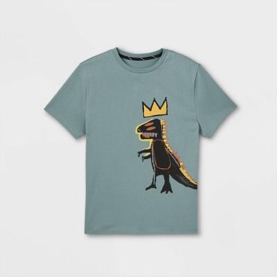 Boys' Jean-Michel Basquiat Dino Graphic Short Sleeve T-Shirt - art class™ Blue