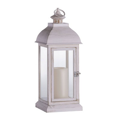 Indoor/Outdoor Battery Operated Candle Lantern White - Sterno Home
