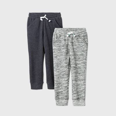 Toddler Girls' 2pk Fleece Jogger Pants - Cat & Jack™ Gray/Black