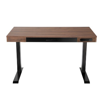 "47"" Adjustable Desk Walnut - Home Essentials"