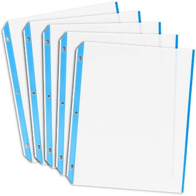 Juvale 100-Pack Clear Sheet Page Protectors for 3 Ring Binder, Standard Letter Size, 8.5 x 11 inches