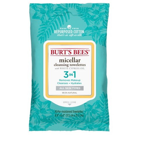 Burt's Bees Micellar Cleansing Towelettes - 10ct - image 1 of 3