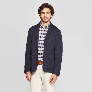 Men's Standard Fit Knit Blazer - Goodfellow & Co™ Ink Pad M