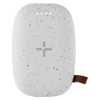 TYLT Wireless Charging Pad & Portable Charger - Pebble White