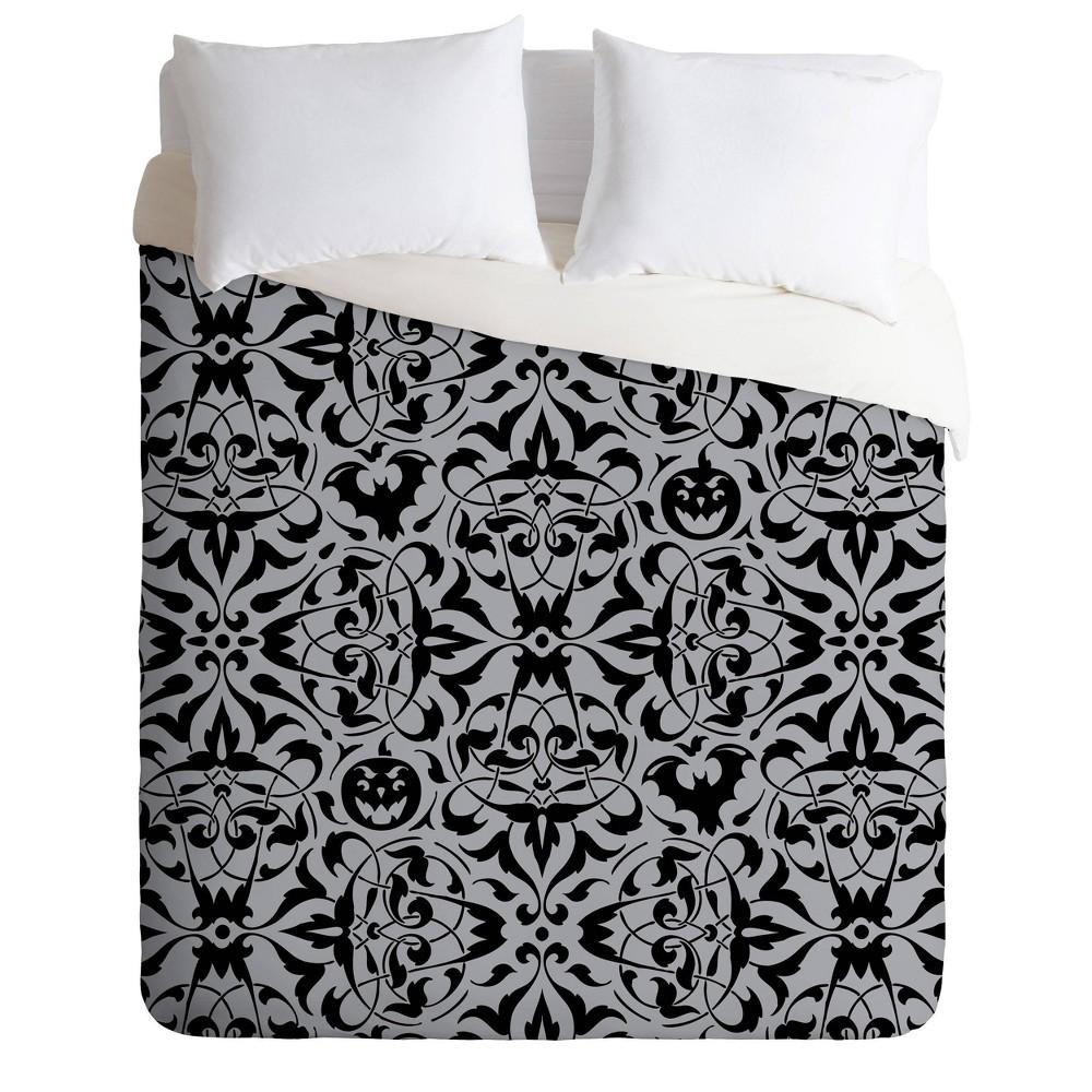 Deny Designs Heather Dutton King Gothique Duvet Cover Set Black White
