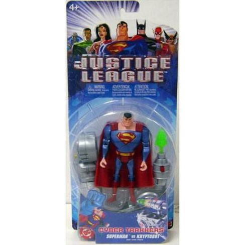 Justice League Cyber Trakkers Superman vs. Kryptobot Action Figure - image 1 of 1