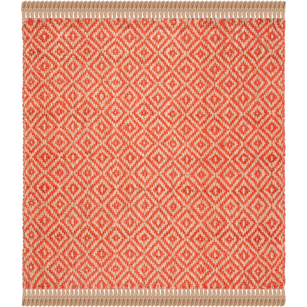 6X6 Geometric Woven Square Area Rug Fuchsia - Safavieh Price