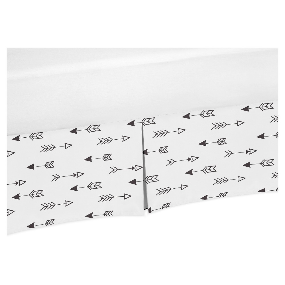 Image of Black/White Arrow Bed Skirt - Sweet Jojo Designs, White Black