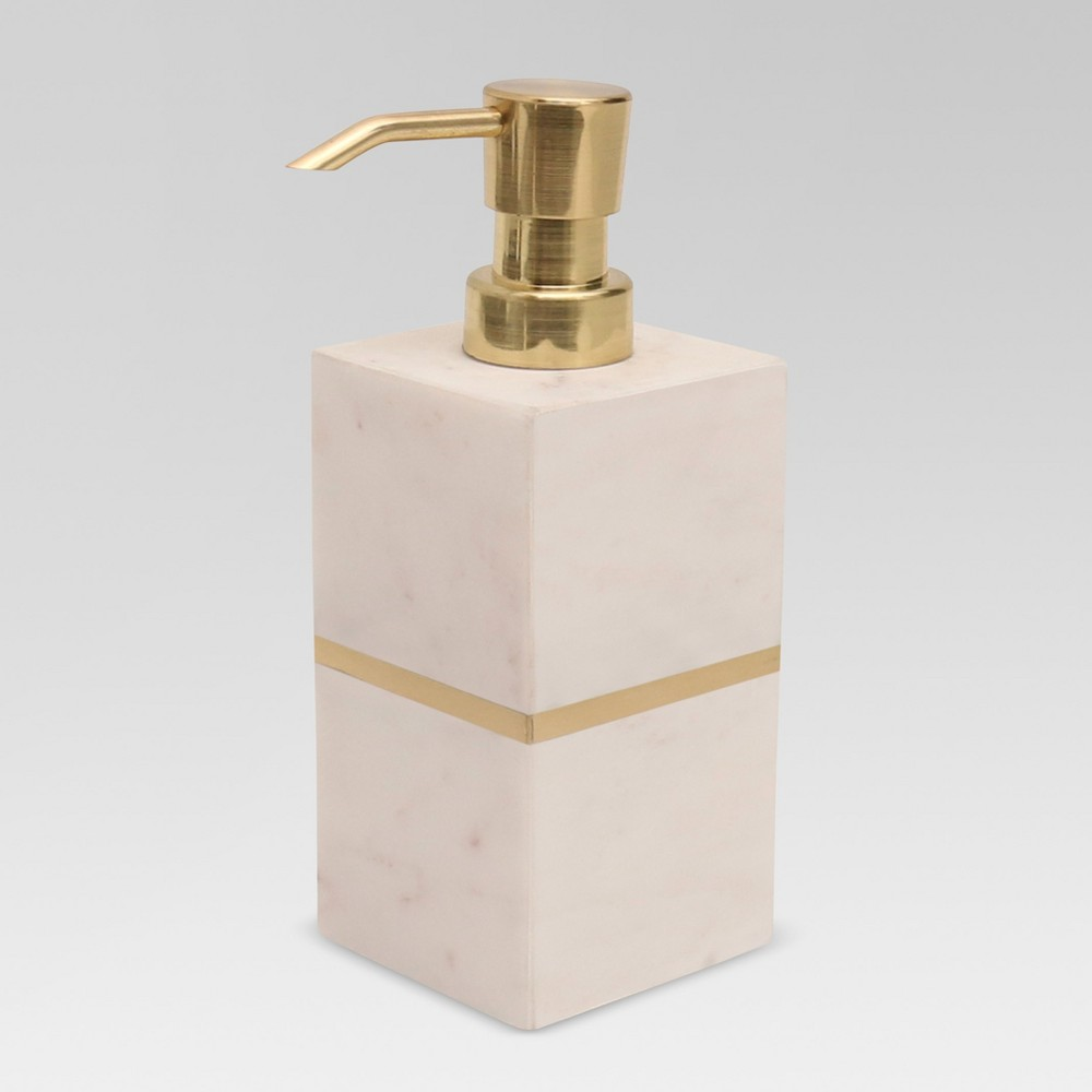 Image of Brass Soap and lotion Dispenser White/Gold - Project 62