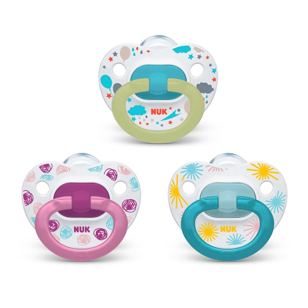 Image of Nuk Pacifier 3pk Sz1 Value Pack - Assorted