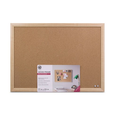 Ubrands Cork Bulletin Board Wood Frame 17x23 Brown Target
